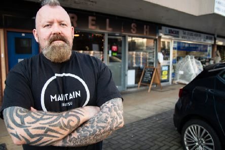Carl Hayes, who runs Relish Cafe in Keirby Walk