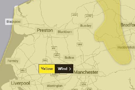 Met Office issue yellow weather warning forwind in Lancashire