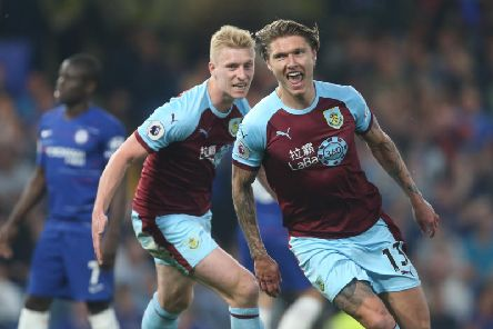 Burnley's Jeff Hendrick celebrates scoring his side's first goal