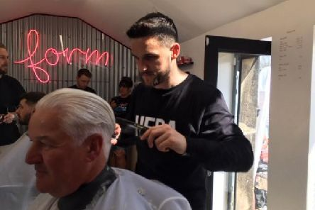 Craig Conway on top form as he auctions haircuts to boost funds for a worthwhile charity