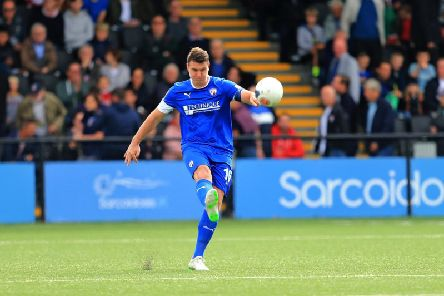 Defender Anthony Gerrard has been stripped of the Chesterfield captaincy.