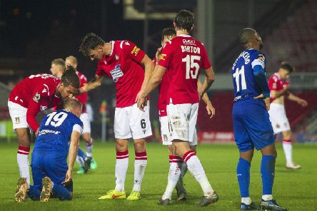 Chesterfield lost 1-0 at Wrexham in the FA Cup fourth qualifying round on Tuesday night.