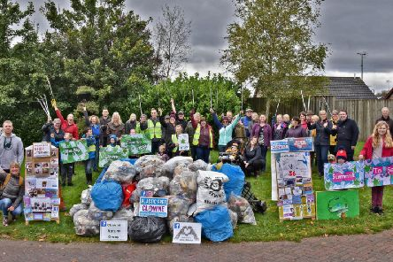 Volunteers who took part in the Big Clowne Clean Up. Picture by Andrew Cox.