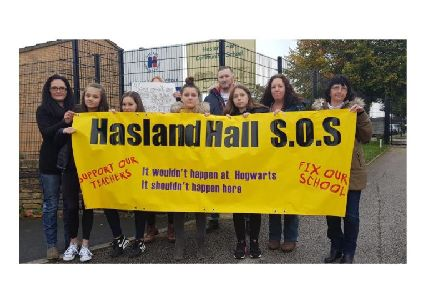 The strike action took place on Tuesday and closed the school for a day.