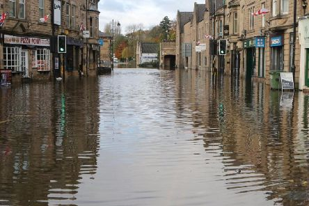 Flooding in Matlock town centre. Picture by Jason Chadwick.