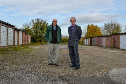 Resident Tony Mappin and councillor Peter Roberts are concerned about the plans. Picture by Rachel Atkins.