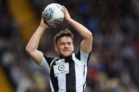 Matt Tootle, pictured playing for Notts County, has joined the Spireites on a season loan. (Photo by Laurence Griffiths/Getty Images)