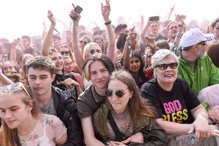The crowd watching Reverend and the Makers on the main stage in Hillsborough Park at Tramlines 2019. Picture: Dean Atkins