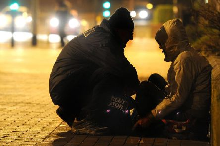 Chesterfield's street pastors help many people at the weekend.