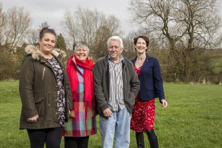 Mily Anderson, resident; Barbara Arrandale, secretary of the friends of Eastwood Park; Barry Stevenson, resident and Councillor Amanda Serjeant, Chesterfield Borough Council's deputy leader at Heathcote Drive.