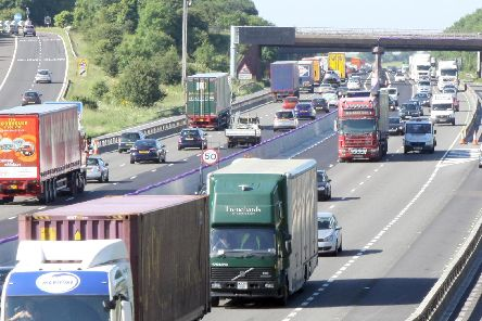The M1 has been closed in both directions after the crash