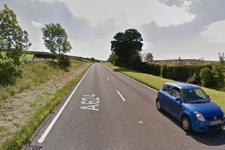 The A624 at Chunal. Picture: Google.