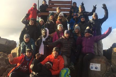 Mount Cook Adventure Centre staff Toria Cox and Robin Sibson were among 18 trekkers to reach the 5,199-metre high summit of Mount Kenya.