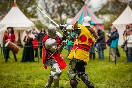 Knights Tournament at Bolsover Castle.