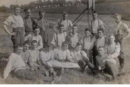 Volunteer soldiers from Brimington pictured in 1914. At least two were killed at Passchendaele.