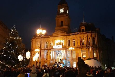 Dewsbury town centre Christmas Lights