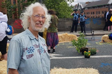 Protester Anthony Whitehouse, 67, is willing to risk arrest.