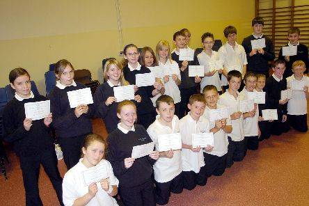 North Axholme School, Crowle. Junior Maths Challenge certificates. (E765CE)