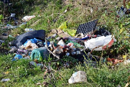 Flytipping to the rear of Ramsden Road, Hexthorpe. Picture: Marie Caley/Doncaster Free Press