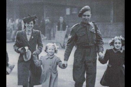 Harry Holgate arrives home to his wife and children