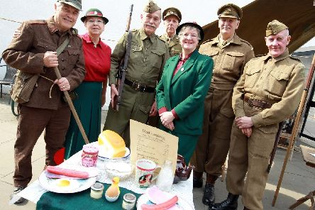Members of the Pontefract Home Guard pictured in 2017 and who will be at the Thorne 1940s weekend