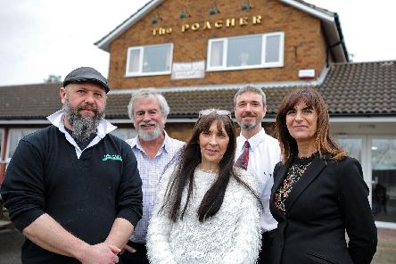 Ian Blaylock, of Doncaster Brewery & Doncaster Brewery Tap, Ian Round, CAMRA, Alison Harper, of The Poacher, David Kessen, Doncaster Free Press and Jackie Bailey, The Magdalen, Rum Rooms and The Masons Arms. Picture: Marie Caley NDFP-12-03-19-RoundTablePubs-2