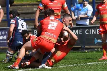Paul Jarvis scores for the Knights against Coventry
