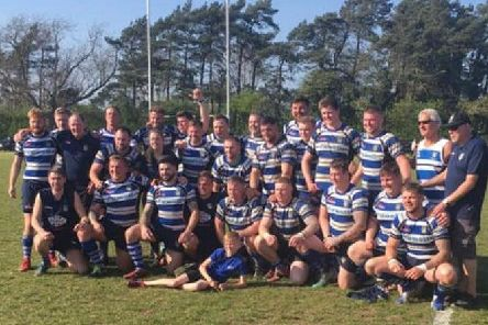 Thornensians celebrate booking their place at Twickenham for the RFU Junior Vase final