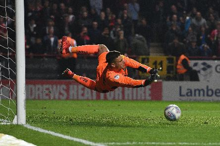 Marko Marosi saved Naby Sarr's penalty in the shootout in the play-off semi-final between Doncaster Rovers and Charlton Athletic. Picture: Howard Roe