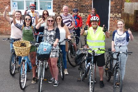 Joining the annual Misterton charity cycle ride