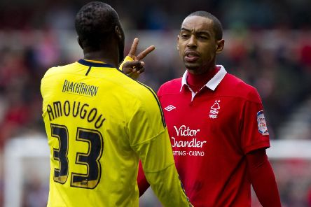 Striker Dexter Blackstock in action during his time with Nottingham Forest. (PHOTO BY: Ben Hoskins/Getty Images)