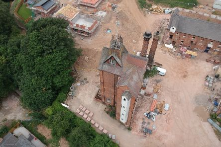 An aerial view of the former Kimberley Brewery site.