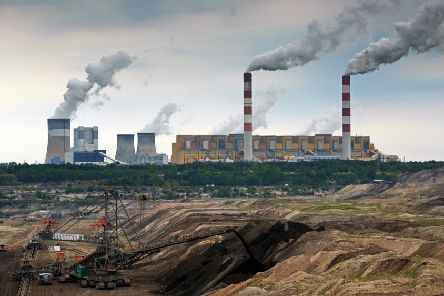 The plant at Belchatow, Poland, the largest thermal power station in Europe.