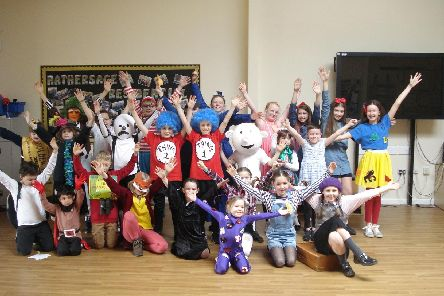 Pupils aged 3-11 celebrate World Book Day.
