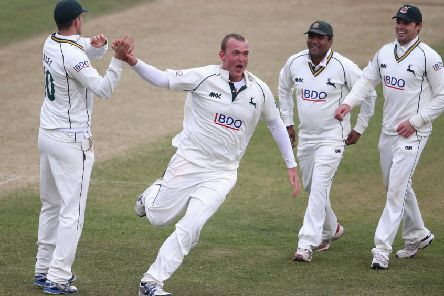 Luke Fletcher, who says he is in fine shape for the new cricket season with Nottinghamshire. (PHOTO BY: David Rogers/Getty Images)