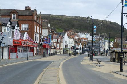 Scarborough seafront deserted during the lockdown. Picture: JPI Media