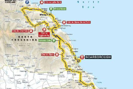 The route for stage three.