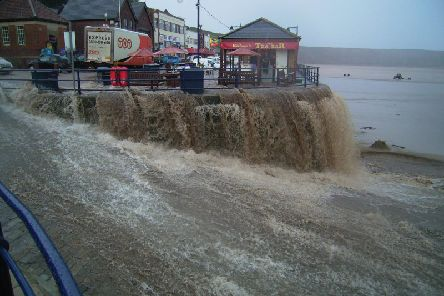 Filey floods in 2002. PIC: Mike Cockerill