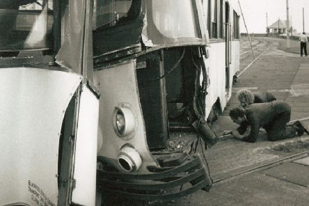 It was hoped that a new method of applying the brakes would cut stopping distances and avoid collisions, such as this one pictured.