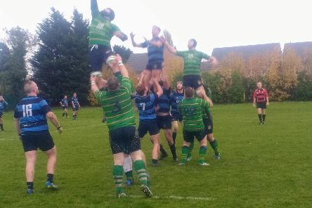 Fleetwood contest a lineout at Liverpool Collegiate