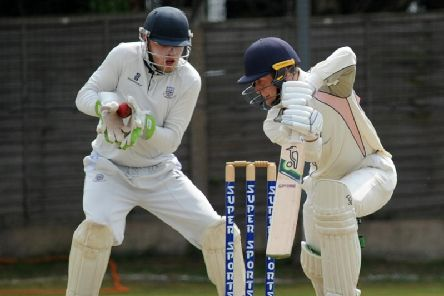 St Annes wicketkeeper Richard Staines in action against Blackpool last season