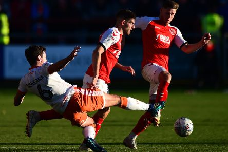 Wes Burns helped Fleetwood Town to a memorable win against Blackpool