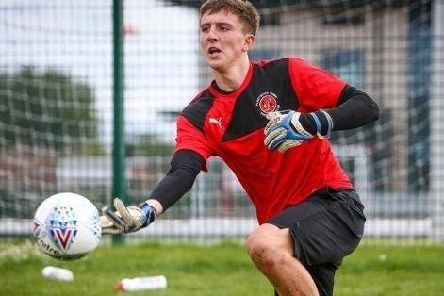 Fleetwood Town's promising young keeper Billy Crellin
