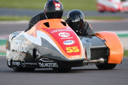 Team SaS, Giles and Jen Stainton, in action at East Fortune in Scotland. (PHOTO BY: Sid Diggins)
