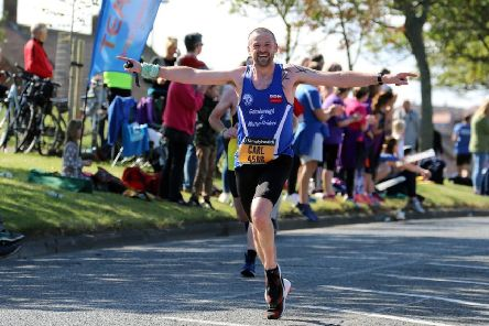 Strider Carl Currie, who put up a tremendous performance in the New York City Marathon. (PHOTO BY: John Rainsforth)