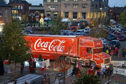 The Coca-Cola Truck in Marshall's Yard