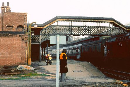 Gainsborough Central Station in March 1977. Photo: Philip Hewson