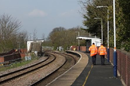 Platform one at Lea Road Station is due to be replaced next year.