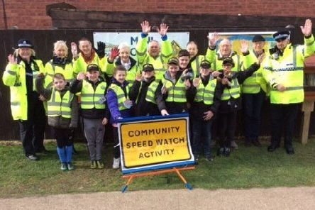 Residents of Sturton by Stow who are urging drivers to slow down when they pass through the village.