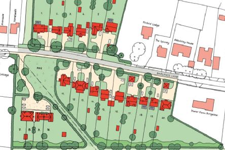 The proposed site layout for 20 homes in Langworth.